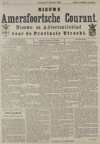 Nieuwe Amersfoortsche Courant 1909-02-27