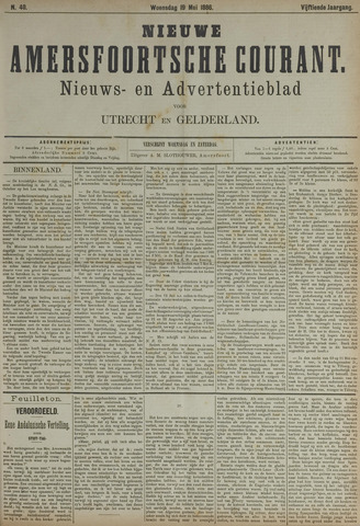 Nieuwe Amersfoortsche Courant 1886-05-19
