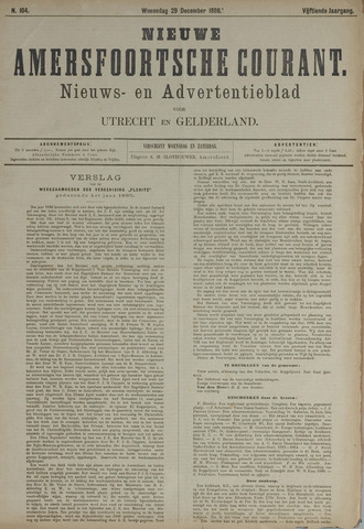 Nieuwe Amersfoortsche Courant 1886-12-29