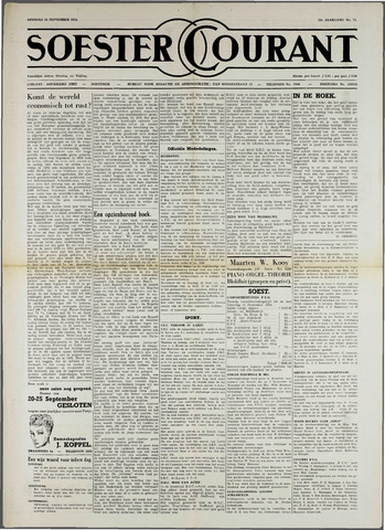 Soester Courant 1954-09-14