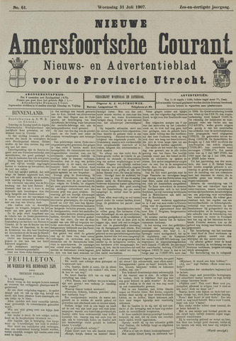 Nieuwe Amersfoortsche Courant 1907-07-31