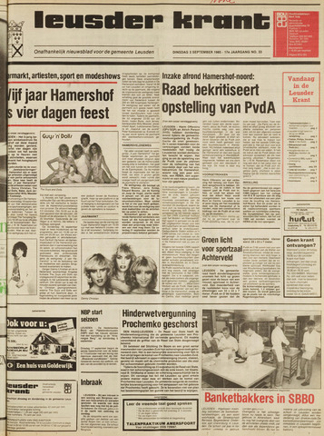 Leusder Krant 1985-09-03