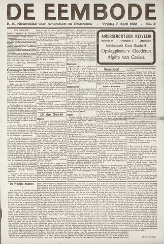 De Eembode 1922-04-07