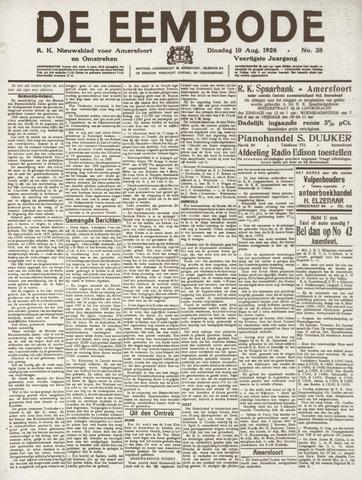 De Eembode 1926-08-10