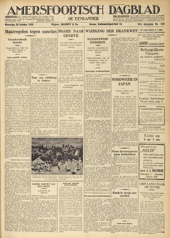 Amersfoortsch Dagblad / De Eemlander 1935-10-30