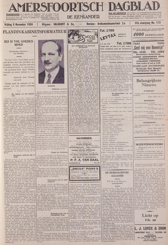 Amersfoortsch Dagblad / De Eemlander 1934-11-09