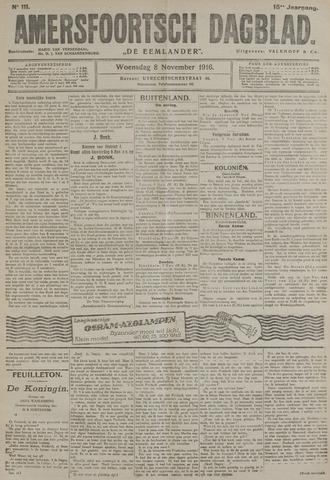 Amersfoortsch Dagblad / De Eemlander 1916-11-08
