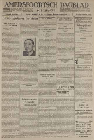 Amersfoortsch Dagblad / De Eemlander 1934-04-06