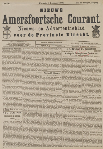 Nieuwe Amersfoortsche Courant 1909-12-01