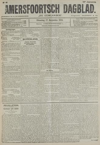 Amersfoortsch Dagblad / De Eemlander 1915-08-17