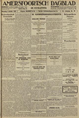 Amersfoortsch Dagblad / De Eemlander 1932-10-05