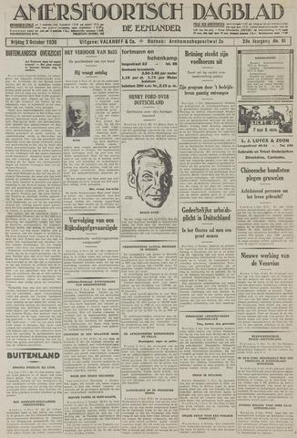 Amersfoortsch Dagblad / De Eemlander 1930-10-03