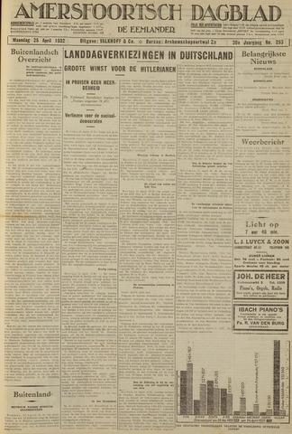 Amersfoortsch Dagblad / De Eemlander 1932-04-25