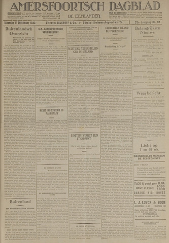 Amersfoortsch Dagblad / De Eemlander 1933-09-11