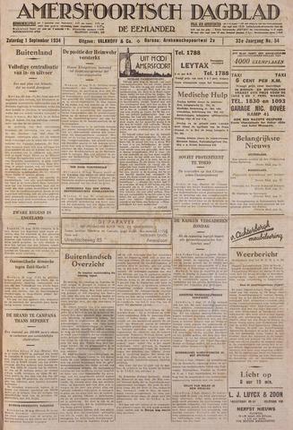 Amersfoortsch Dagblad / De Eemlander 1934-09-01