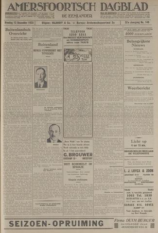 Amersfoortsch Dagblad / De Eemlander 1933-12-12