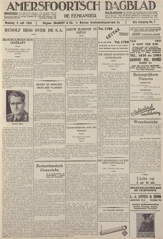 Amersfoortsch Dagblad / De Eemlander 1934-07-09