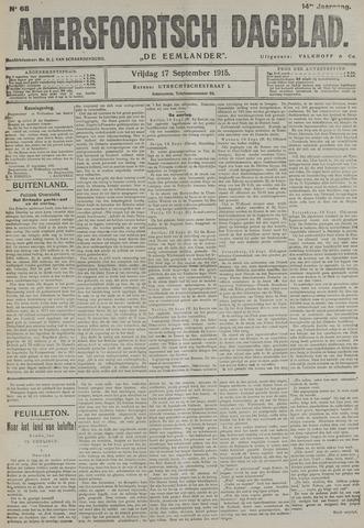Amersfoortsch Dagblad / De Eemlander 1915-09-17