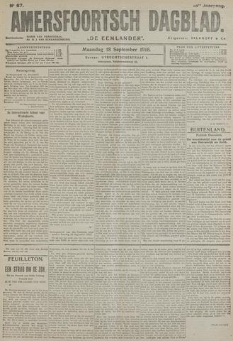 Amersfoortsch Dagblad / De Eemlander 1916-09-18