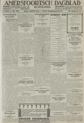 Amersfoortsch Dagblad / De Eemlander 1931-05-21
