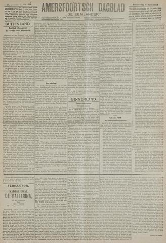 Amersfoortsch Dagblad / De Eemlander 1918-04-04