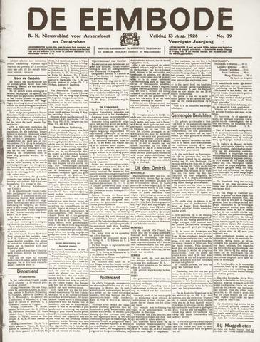 De Eembode 1926-08-13