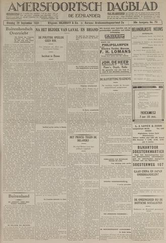 Amersfoortsch Dagblad / De Eemlander 1931-09-30