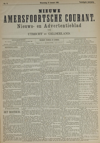 Nieuwe Amersfoortsche Courant 1891-01-21
