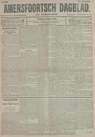 Amersfoortsch Dagblad / De Eemlander 1915-04-09