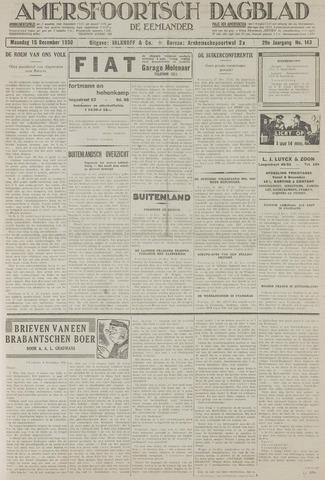 Amersfoortsch Dagblad / De Eemlander 1930-12-15