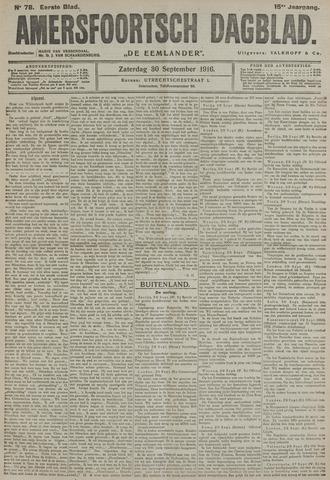 Amersfoortsch Dagblad / De Eemlander 1916-09-30