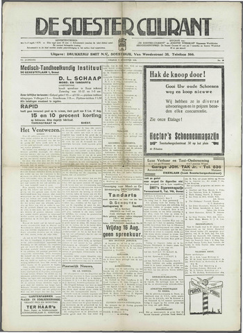 Soester Courant 1935-08-09