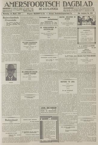 Amersfoortsch Dagblad / De Eemlander 1931-03-25
