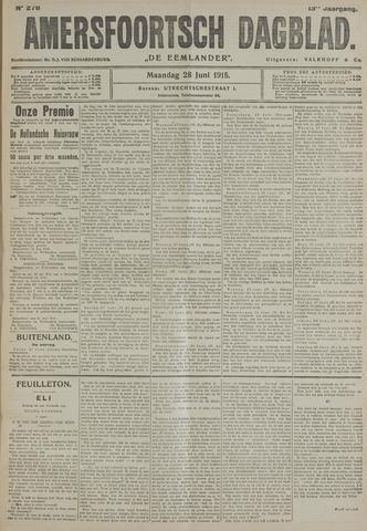 Amersfoortsch Dagblad / De Eemlander 1915-06-28