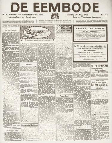 De Eembode 1927-08-30