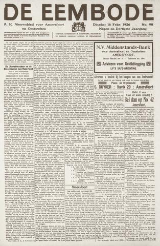 De Eembode 1926-02-16