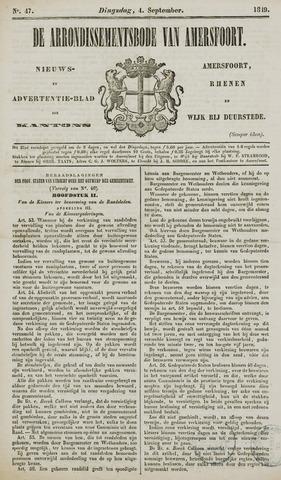 Arrondissementsbode van Amersfoort 1849-09-04