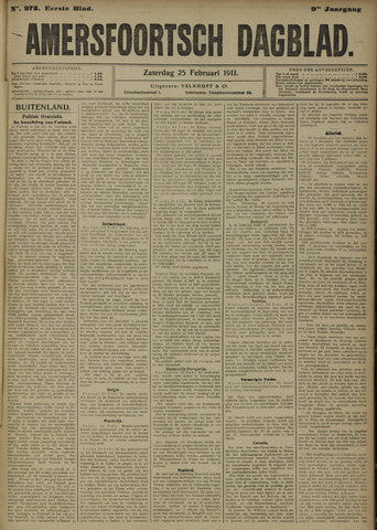 Amersfoortsch Dagblad 1911-02-25