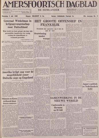 Amersfoortsch Dagblad / De Eemlander 1940-07-03