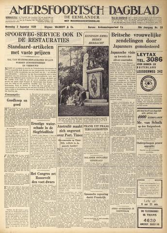 Amersfoortsch Dagblad / De Eemlander 1939-08-02