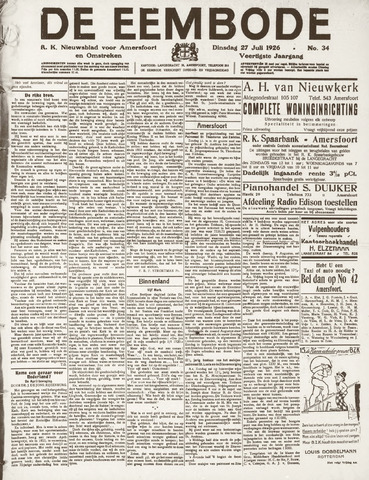 De Eembode 1926-07-27