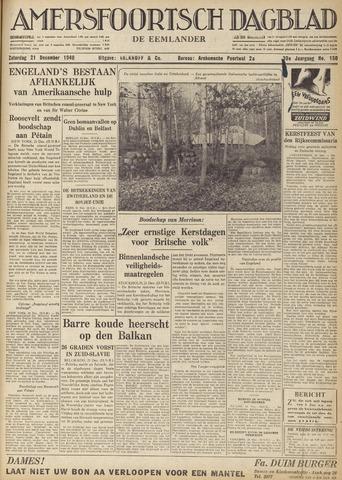 Amersfoortsch Dagblad / De Eemlander 1940-12-21
