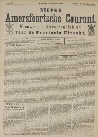 Nieuwe Amersfoortsche Courant 1903-11-18