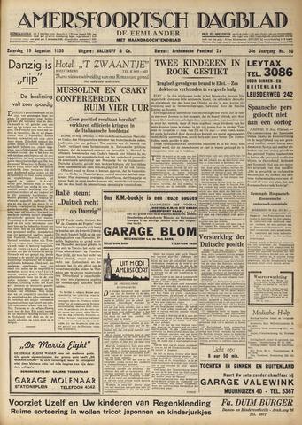 Amersfoortsch Dagblad / De Eemlander 1939-08-19