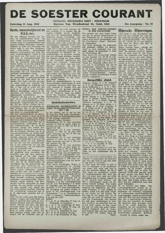 Soester Courant 1945-08-11