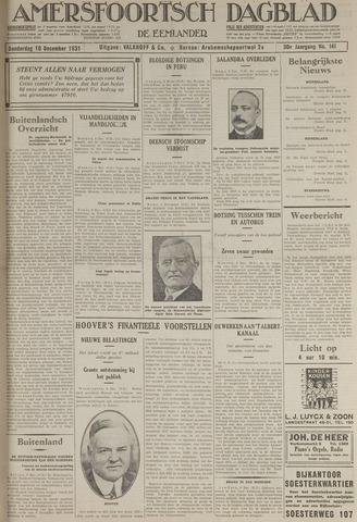 Amersfoortsch Dagblad / De Eemlander 1931-12-10