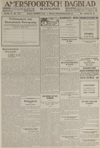 Amersfoortsch Dagblad / De Eemlander 1931-07-21
