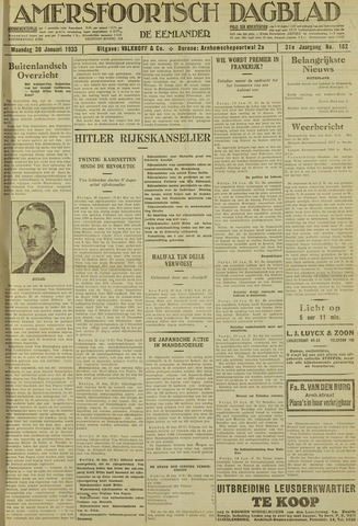 Amersfoortsch Dagblad / De Eemlander 1933-01-30
