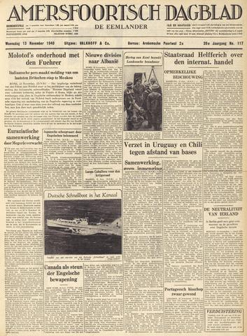 Amersfoortsch Dagblad / De Eemlander 1940-11-13