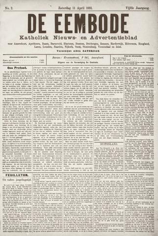 De Eembode 1891-04-11